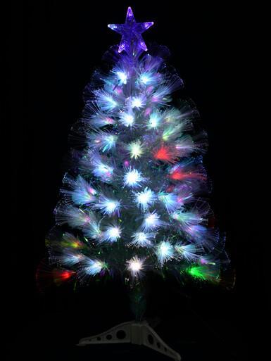 Image of Multi Colour Changing LED Rainbow Fibre Optic Tree - 90cm