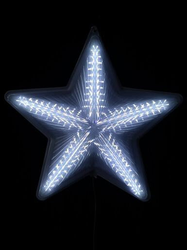 Image of Cool White LED Five Point 3D Digital Star Display - 50cm
