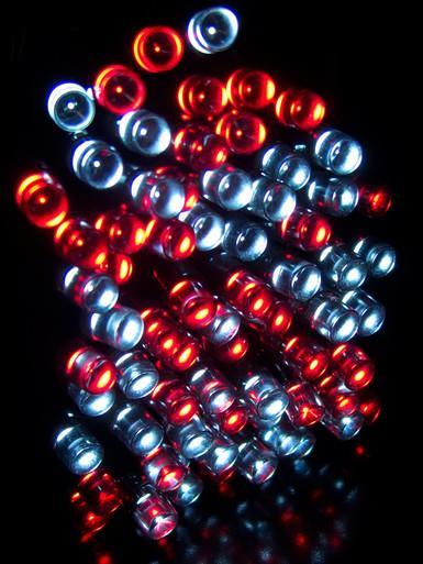 Image of 500 Red & Cool White Super Bright LED String Light - 25m