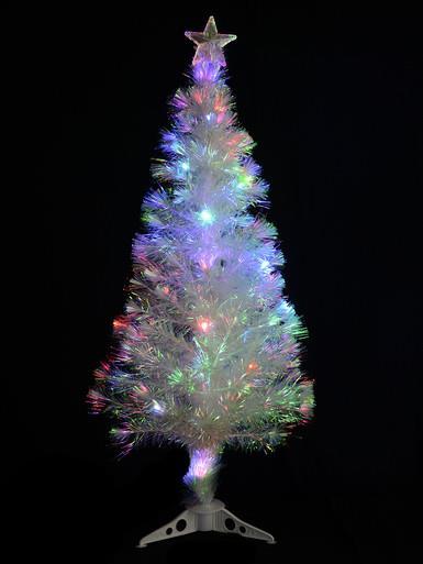 Image of Decorated Iridescent Fibre Optic Tree - 1.2m