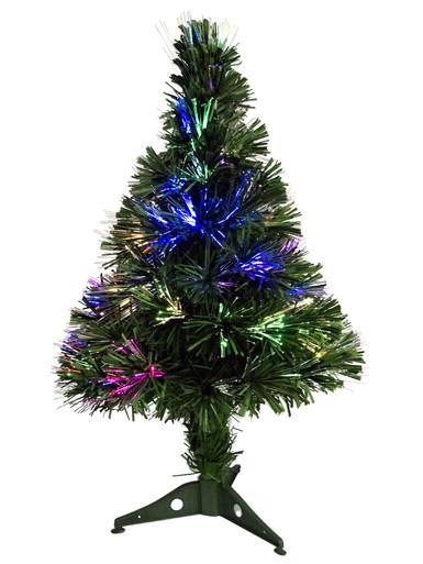 Image of Vibrant LED Multi Colour & Cool White Fibre Optic Tree - 65cm