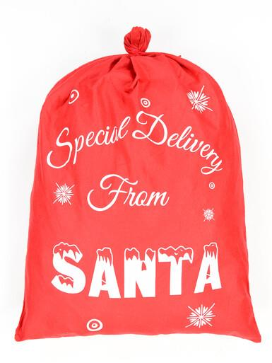 Image of Special Delivery From Santa Red Felt Santa Sack - 90cm