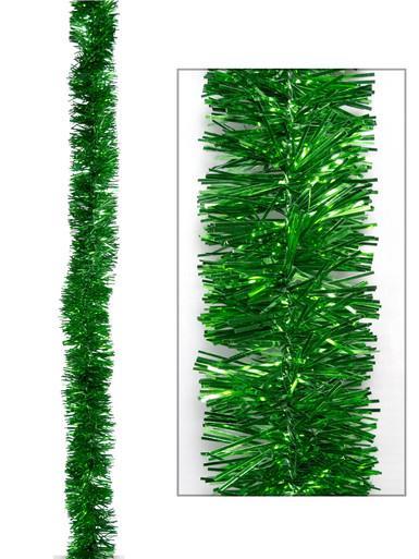 Image of Green Metallic 6ply Tinsel Garland - 50mm x 5m