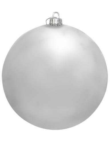 Image of Silver Metallic Large Bauble Display Decoration - 20cm