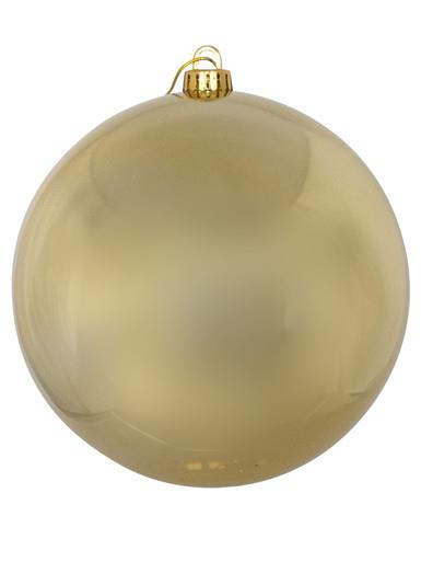 Image of Gold Metallic Large Bauble Display Decoration - 20cm