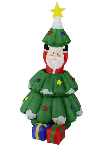 Image of Santa In Christmas Tree With Gifts Inflatable - up to 1.6m