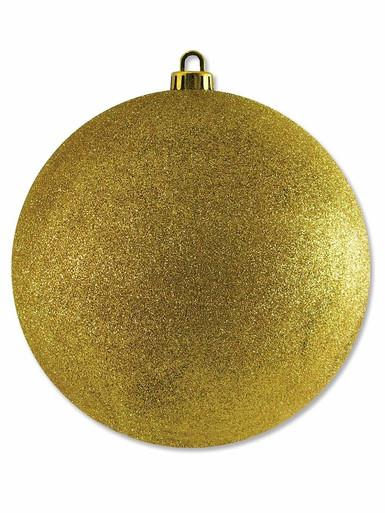 Image of Gold Glittered Large Bauble Display Decoration - 20cm