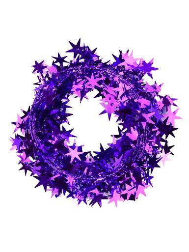 Image of Purple Star Wired Garland - 7.6m