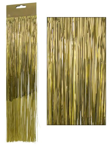 Image of Gold Lametta Tinsel Icicles - 300 strands