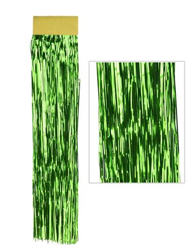 Image of Emerald Green Lametta Tinsel Icicles - 300 strands