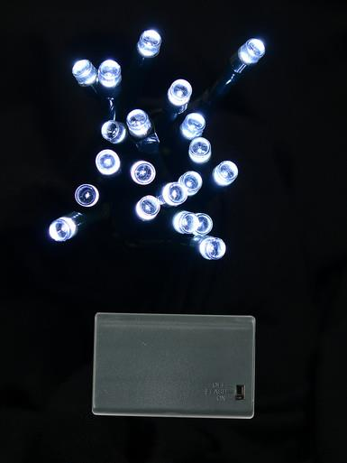 Image of 20 Cool White LED Concave Bulb Battery String Lights - 2.4m