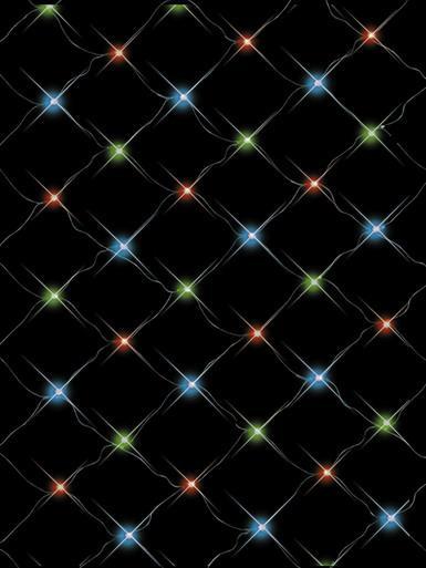 Image of 96 Multi Colour LED Concave Bulb Net Light - 2.1m