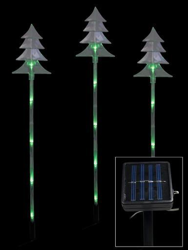 Image of 6 Green LED Tree Solar Stake Light - 66cm