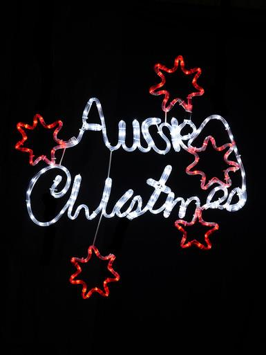 Image of Aussie Christmas LED Rope Light Silhouette - 80cm