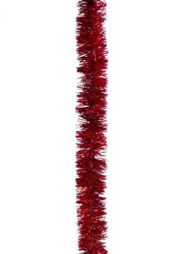 Image of Red Metallic 6ply Tinsel Garland - 50mm x 5m
