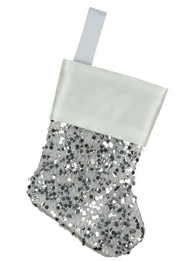 Image of Mini Red Sequin Christmas Stocking Hanging Decorations - 6 x 15cm