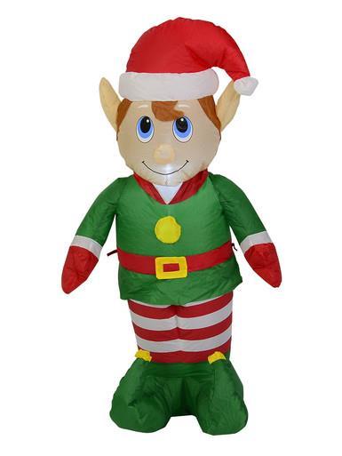 Image of Standing Boy Elf Illuminated Inflatable - 1.2m