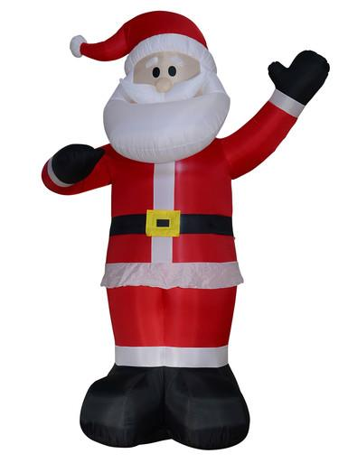 Image of Gigantic Standing & Waving Santa Illuminated Inflatable - 4m