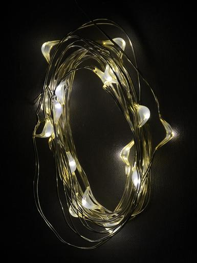 Image of 20 Warm White LED Micro Bulb Battery String Lights - 1m