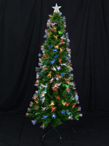 Image of Fibre Optic Christmas Tree with Colour Changing LED Star - 1.8m