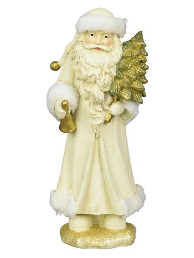 Image of Traditional Father Christmas Standing Ornament - 24cm