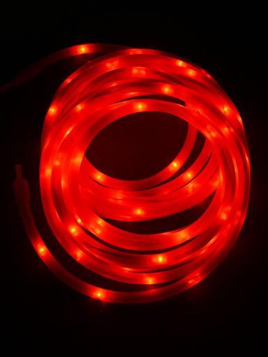 Image of 100 LED Red Case USB Snake Rope Light - 5m