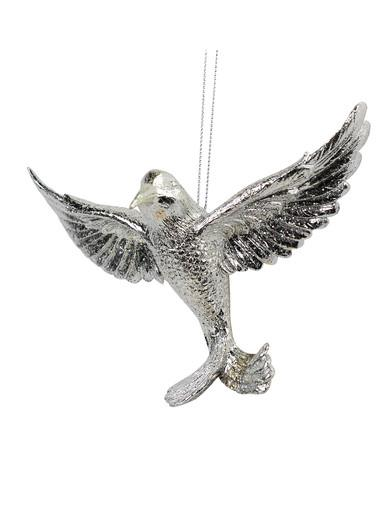 Image of Silver Hummingbird Hanging Ornament - 13cm