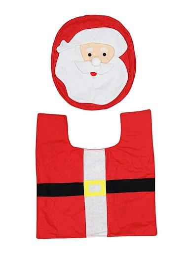 Image of Santa Toilet Seat Cover & Floor Mat Set - Fits Most Thrones