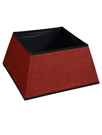 Image of Red Square Shape Contemporary Vertical Christmas Tree Skirt - 48cm