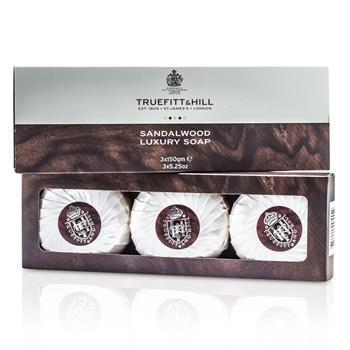 Truefitt & Hill Sandalwood Luxury Soap (Triple) 3x150g/5.25oz Men's Fragrance