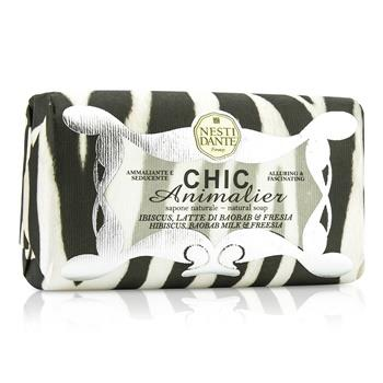 Nesti Dante Chic Animalier Natural Soap - Hibiscus, Baobab Milk & Freesia 250g/8.8oz Skincare