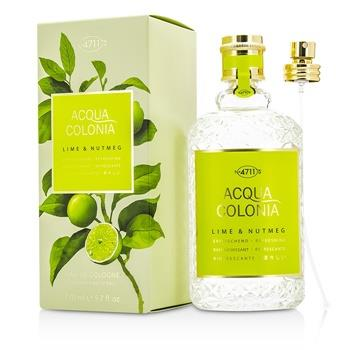 4711 Acqua Colonia Lime & Nutmeg Eau De Cologne Spray 170ml/5.7oz Men's Fragrance