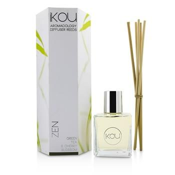 iKOU Aromacology Diffuser Reeds - Zen (Green Tea & Cherry Blossom - 9 months supply) - Home Scent