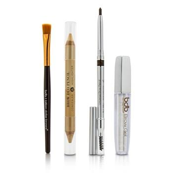 Billion Dollar Brows Best Sellers Kit: 1x Universal Brow Pencil 0.27g/0.009oz, 1x Brow Duo Pencil 2.98g/0.1oz, 1x Smudge Brush, 1x Brow Gel 3ml/0.1oz 4pcs Make Up