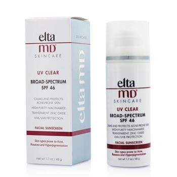 EltaMD UV Clear Facial Sunscreen SPF 46 - For Skin Types Prone To Acne, Rosacea & Hyperpigmentation 48g/1.7oz Skincare