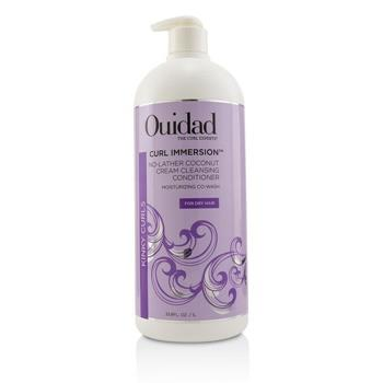 Ouidad Curl Immersion No-Lather Coconut Cream Cleansing Conditioner (Kinky Curls) 1000ml/33.8oz Hair Care
