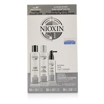 Nioxin 3D Care System Kit 1 - For Natural Hair, Light Thinning, Light Moisture 3pcs Hair Care