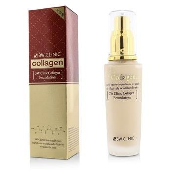 3W Clinic Collagen Foundation - # 21 (Transparent Beige) 50ml/1.67oz Make Up