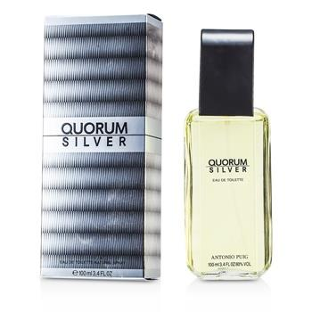 Puig Quorum Silver Eau De Toilette Spray 100ml/3.4oz Men's Fragrance