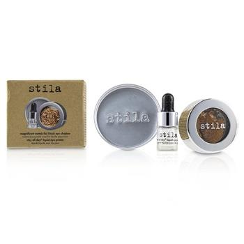 Stila Magnificent Metals Foil Finish Eye Shadow With Mini Stay All Day Liquid Eye Primer - Comex Copper 2pcs Make Up
