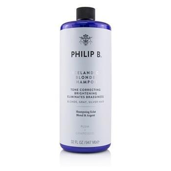 Philip B Icelandic Blonde Shampoo (Tone Correcting Brightening Eliminates Brassiness - Blonde, Gray, Silver H 947ml/32oz Hair Care