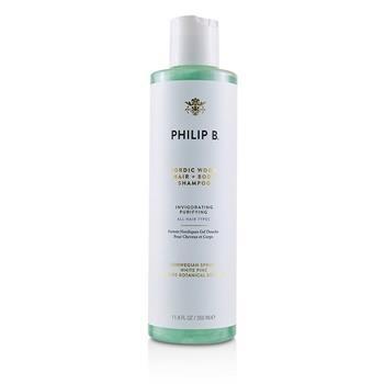 Philip B Nordic Wood Hair + Body Shampoo (Invigorating Purifying - All Hair Types) 350ml/11.8oz Hair Care