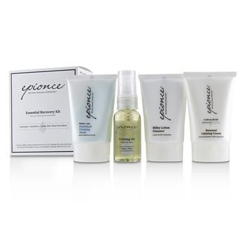 Epionce Essential Recovery Kit: Milky Lotion Cleanser 30ml+ Priming Oil 25ml+ Enriched Firming Mask 30g+ Renewal Calming Cream 30g 4pcs Skincare