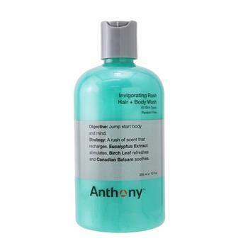 Anthony Invigorating Rush Hair & Body Wash (All Skin Types) 355ml/12oz Men's Skincare