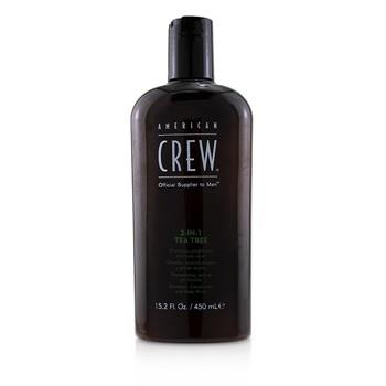 American Crew Men 3-IN-1 Tea Tree Shampoo, Conditioner and Body Wash 450ml/15.2oz Hair Care