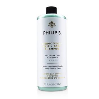 Philip B Nordic Wood Hair + Body Shampoo (Invigorating Purifying - All Hair Types) 947ml/32oz Hair Care