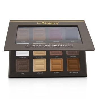 Bellapierre Cosmetics 12 Color Pro Natural Eye Palette (12x Eyeshadow) 21.3g/0.73oz Make Up