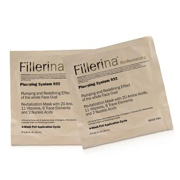 Fillerina Fillerina 932 Bio-Revitalizing Plumping System - Grade 5-Bio 4x25ml/0.84oz Skincare