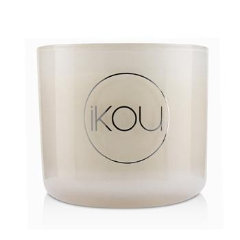 iKOU Eco-Luxury Aromacology Natural Wax Candle Glass - Joy (Australian White Flannel Flower) (2x2) inch Home Scent