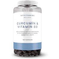 Image of Curcumin & Vitamin D3 Capsules - 180Capsules